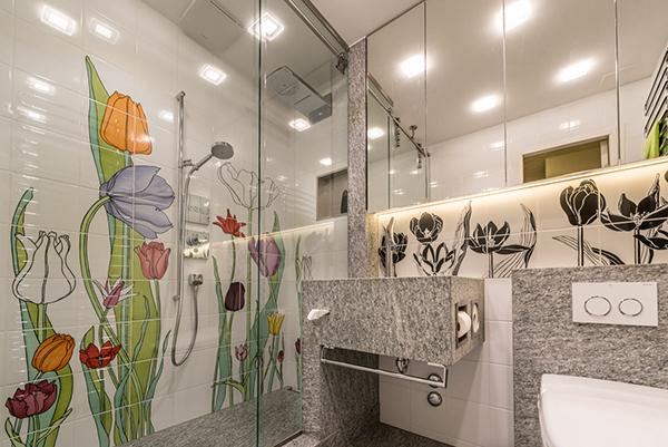 Badezimmer Umbau fertiges Badezimmer
