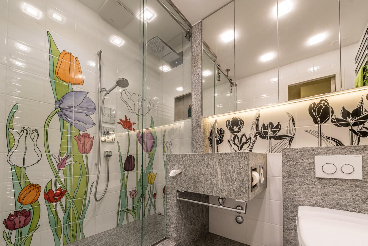 Kompletter Umbau Badezimmer Ferienwohnung Arosa