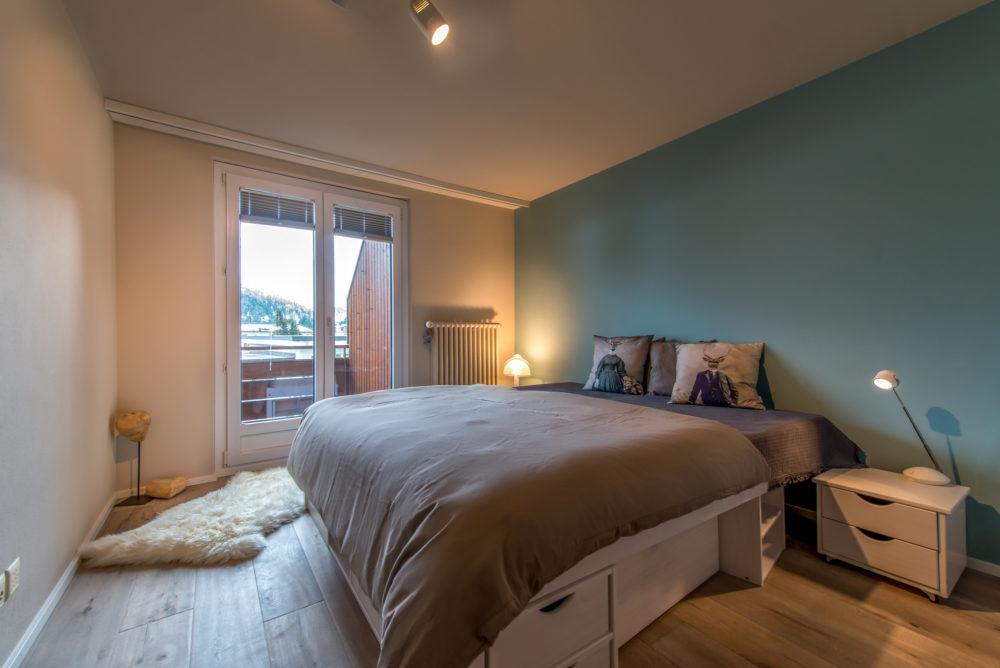 Schlafzimmer nach Umbau Ferienwohnung Arosa