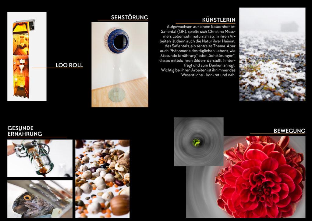 Flyer messmerart Projekte und Portrait künstlerin