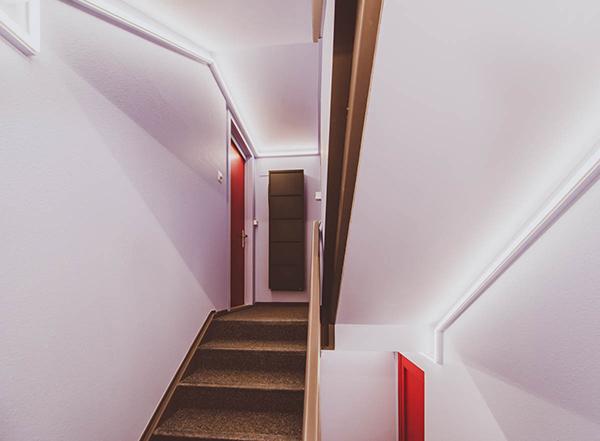 Neue Treppenhausgestaltung Haus Brosi Arosa
