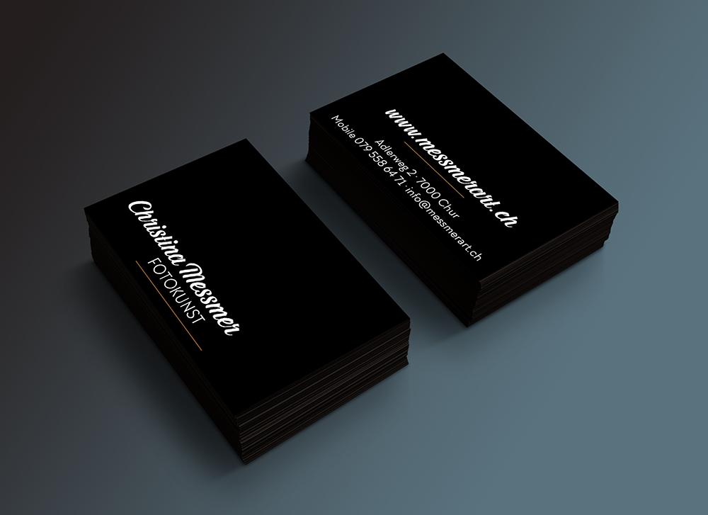 Design Visitenkarte christina messmer