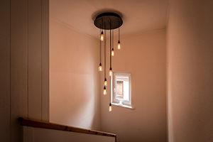 Lampendesign Treppenhaus Haus Brosi Arosa Innenarchitektur