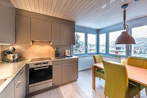 Küche renovierte Ferienwohnung Innenarchitektur