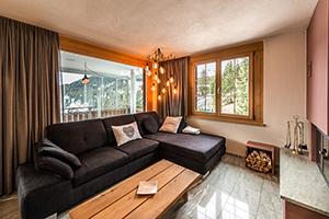 Umbau Privatwohnung Arosa Wohnzimmer