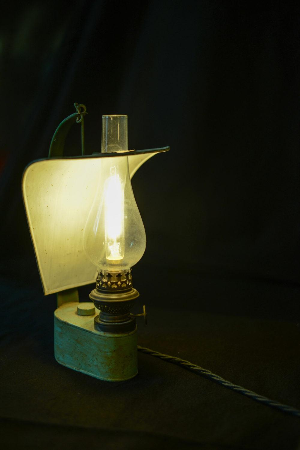 recycling lampe aus petrollampe